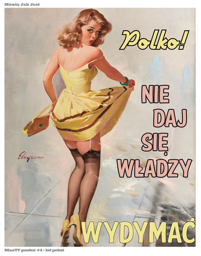 MaxTV American Poster – Nie daj się władzy wydymać!